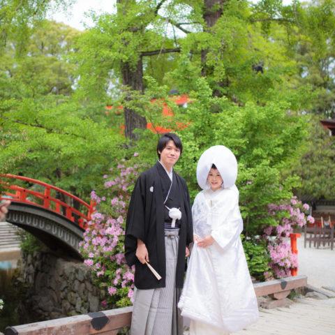 下鴨神社での結婚式の様子