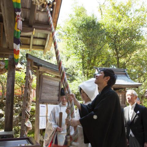 神社仏閣の挙式の様子
