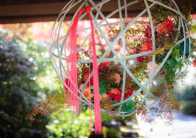 山門の装花